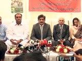 Sindh Chief Minister Syed Murad Ali Shah press conference at Ibrahim Hydri, Karachi, Sindh (SOT-1)