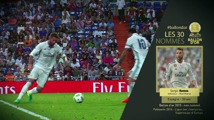 Les 30 nommés Ballon d'Or France Football - 6/6
