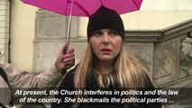 Polish women rally against tightening abortion law