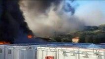 Lesbos : des locaux incendiés pendant une action de protestation de migrants