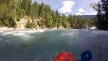 Extreme whitewater kayaking on the Fraser River