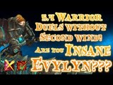Evylyn - Second wind OP!! Duels without second wind! i'm NOT afraid!! wow mop 5.4 warrior duels pvp