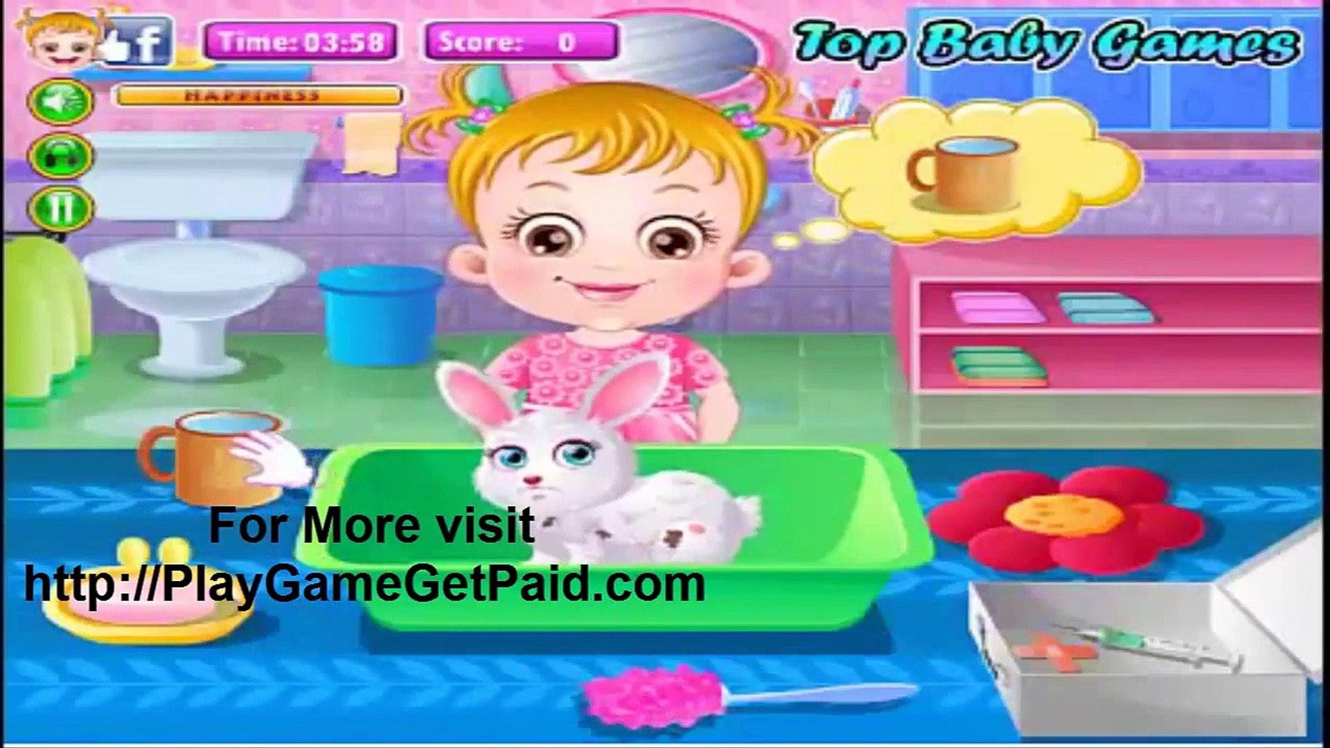 baby hazel pet care games