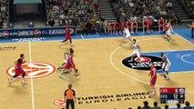 Anadolu Efes Istambul vs CSKA Moscu Euroliga NBA 2K17 Gameplay HD Simulation