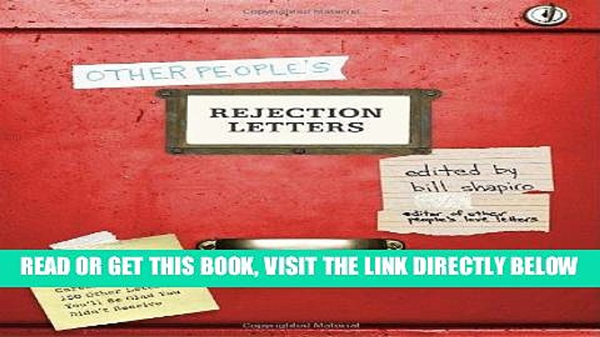 [Free Read] Other People s Rejection Letters: Relationship Enders, Career Killers, and 150 Other