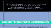 [New] Ebook The Accounting Function and Management Accounting in Life Insurance Companies Free Read