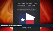 Big Deals  Texas Homeowners Association Law, 2nd ed.  Best Seller Books Most Wanted