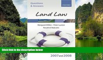 Big Deals  Q and A: Land Law 2007-2008 (Blackstone s Law Questions and Answers)  Full Read Best