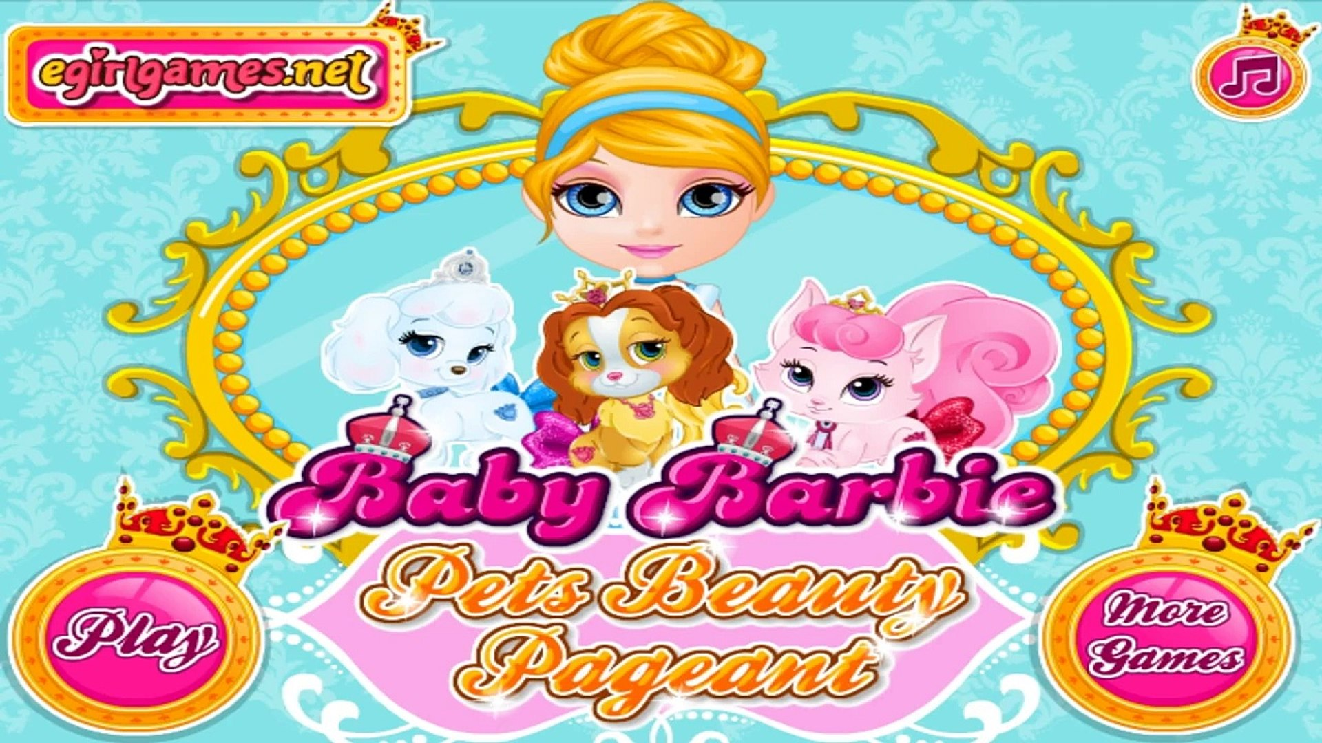 Baby Barbie Pets Beauty Pageant - Best Games for Kids