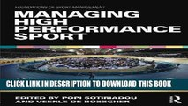 [New] Ebook Managing High Performance Sport (Foundations of Sport Management) Free Online