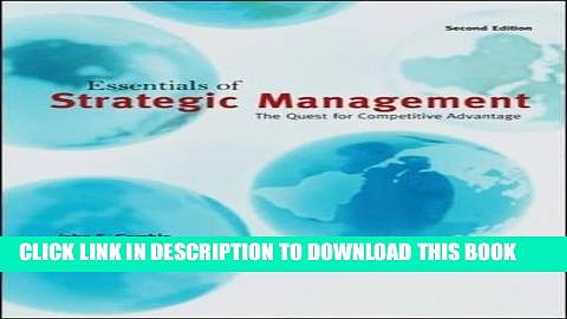 [PDF] FREE Essentials of Strategic Management: The Quest for Competitive  Advantage [Download] Full