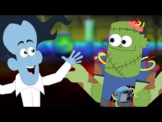 Effrayant Tête Épaule   Comptine   enfants cartoon   Head Sholuder   Nursery Rhyme   Scary Kids Song