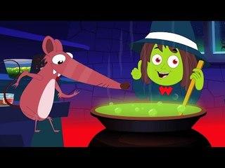 Brujas sopa canción | Poesías infantiles Colección | de miedo Canción para niños | Witches Soup