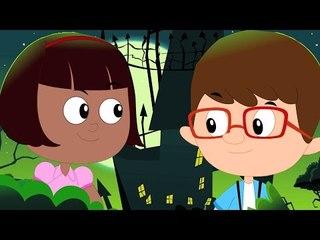 Halloween nacht   Karikatur für Kinder   Scary Kinderreim   Halloween Night   Scary Video For Kids