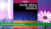 READ BOOK  South Africa, Lesotho   Swaziland (Lonely Planet South Africa, Lesotho   Swaziland)