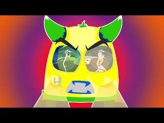 Ruote spaventoso su l'autobus   Pauroso cartone animato per i capretti   Wheels On The Bus