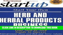 [PDF] Start Your Own Herb and Herbal Products Business (Start Your Own Herb   Herbal Products