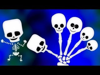 Scheletro dito famiglia   Video per i capretti   paursoo canzone   educativi Video   kids song