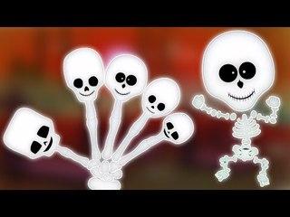 Skelett Finger Familie | Scary Cartoon für Kinder | Beliebte Kinderlieder | Skeleton Finger Family