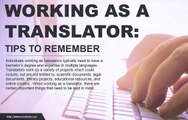 Things to remember when content is being is translated