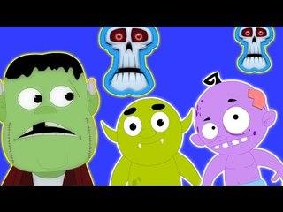 Olá É o Dia das Bruxas | Desenhos animados para crianças | vídeo educativo | Canções scary Halloween