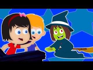 o dia das bruxas noite   rima assustador   crianças de música   Halloween Night