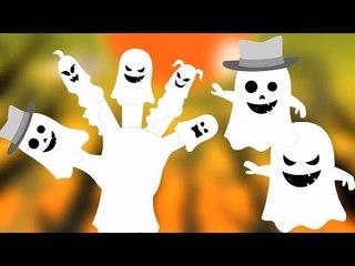 Ma Ngón tay Gia đình   ươm vần   Bọn trẻ Video   Đáng sợ vần điệu cho trẻ em   Ghost Finger Family