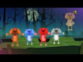 Năm con chó nhỏ   vần điệu đáng sợ   trẻ em đáng sợ phim   Five Little Puppies   Scary Kids Song