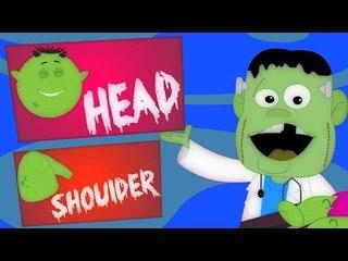 Tête épaules genoux et aux orteils | Comptine | Effrayant Chansons | enfants Vidéo | Head houlders