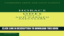 [Free Read] Horace: Odes IV and Carmen Saeculare Full Online