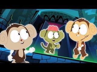 ห้าลิงน้อย | การ์ตูนที่น่ากลัวสำหรับเด็ก | วิดีโอการศึกษา | กล่อมเด็ก | Five Little Monkeys
