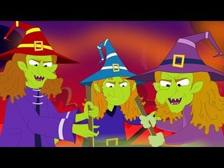 flying witches   halloween song   scary rhymes   kids songs   nursery rhymes