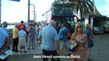 Cruise stop GranCanaria, Doris Visits Town+Beach by bus
