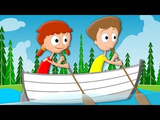 Row Row Row Your Boat Gently Down The Stream | Nursery Rhyme And Kids Song