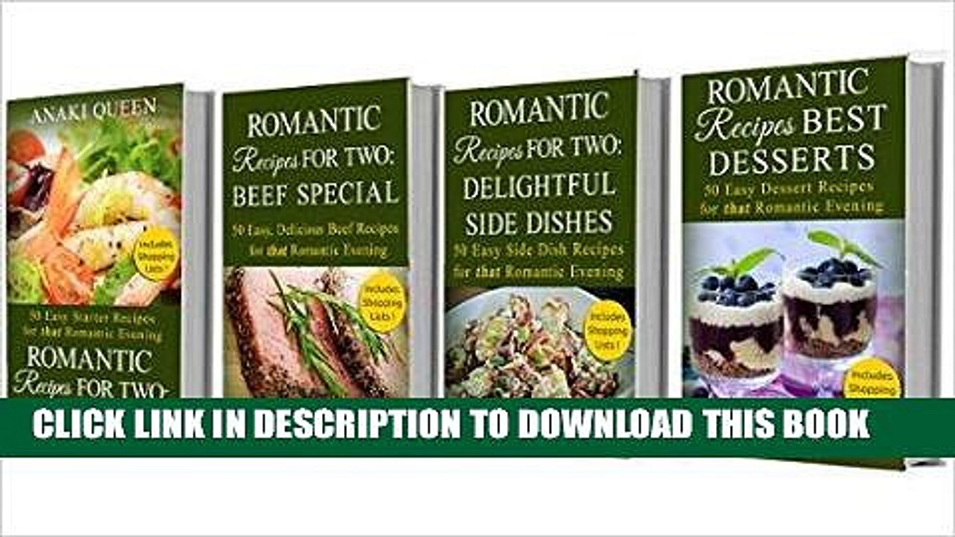 Ebook Romantic Recipes for Two - Box Set 1: Romantic Recipes including Starters, Beef Special,