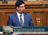Diputados socialistas rechazan intento de golpe parlamentario en Vzla.