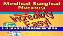 [FREE] EBOOK Springhouse 2E;  LWW Medical-Surgical Nursing Made Incredibly Easy! 3E Package BEST