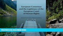 Deals in Books  European Consensus and the Legitimacy of the European Court of Human Rights  READ