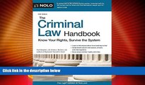 FREE [PDF] The Criminal Law Handbook: Know Your Rights