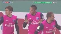 Bobby Wood Goal HD - Hallescher 0-1 Hamburger SV - 25-10-2016
