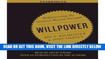 [EBOOK] DOWNLOAD Willpower: Rediscovering the Greatest Human Strength [Audiobook, Unabridged]