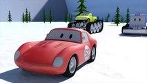 Chasse neige Monster, Trucks & Spid la voiture de course | Dessins animés pour enfants 3D