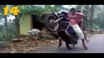 Best funny Bike Stunts/Accidents { Must watch }