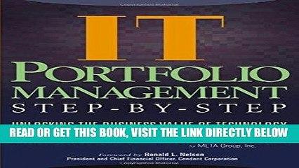 [New] Ebook IT Portfolio Management: Unlocking the Business Value of Technology Free Read
