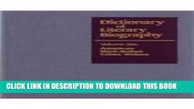 Read Now Dictionary of Literary Biography: Vol. 226 American Hard Boiled Crime Writers Download Book