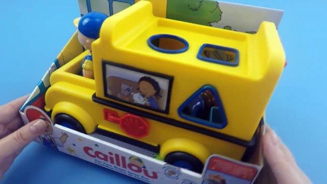 Caillou Fun Time Shape Sorter Bus Unboxing | Cartoon for Kids
