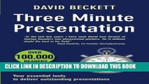 [New] Ebook Three Minute Presentation 33 three minute tools to help you deliver outstanding
