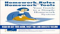 [New] Ebook Homework Rules and Homework Tools Your Guide to  a Simple Homework System Free Online