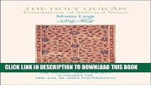 Ebook The Holy Qur an: Translations of Selected Verses (Islamic Texts Society Books) Free Read
