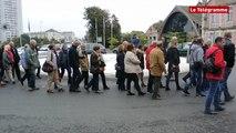 Saint-Brieuc. 80 manifestants venus soutenir les policiers
